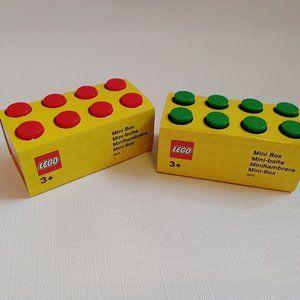 LEGO Mini Box Lego Storage Red Green